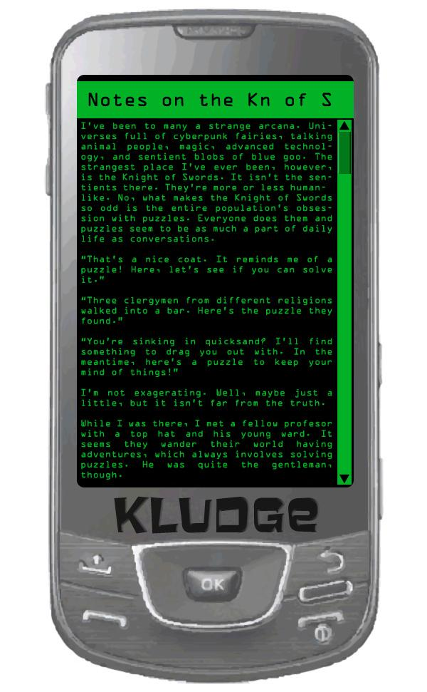 Kludge's Notes
